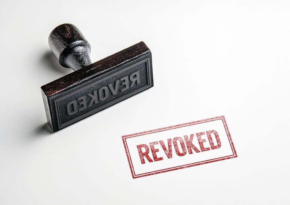 Revoked License